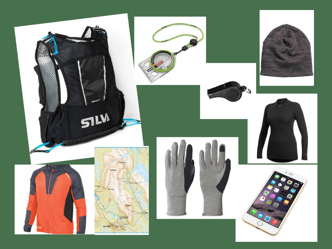 obligatorisk utrustning för Idre Fjällmaraton